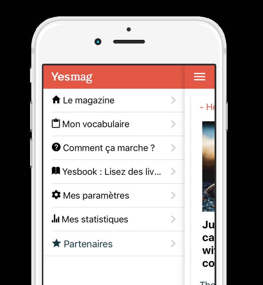 Image de garde de l'application yesmag ecran d'accueil