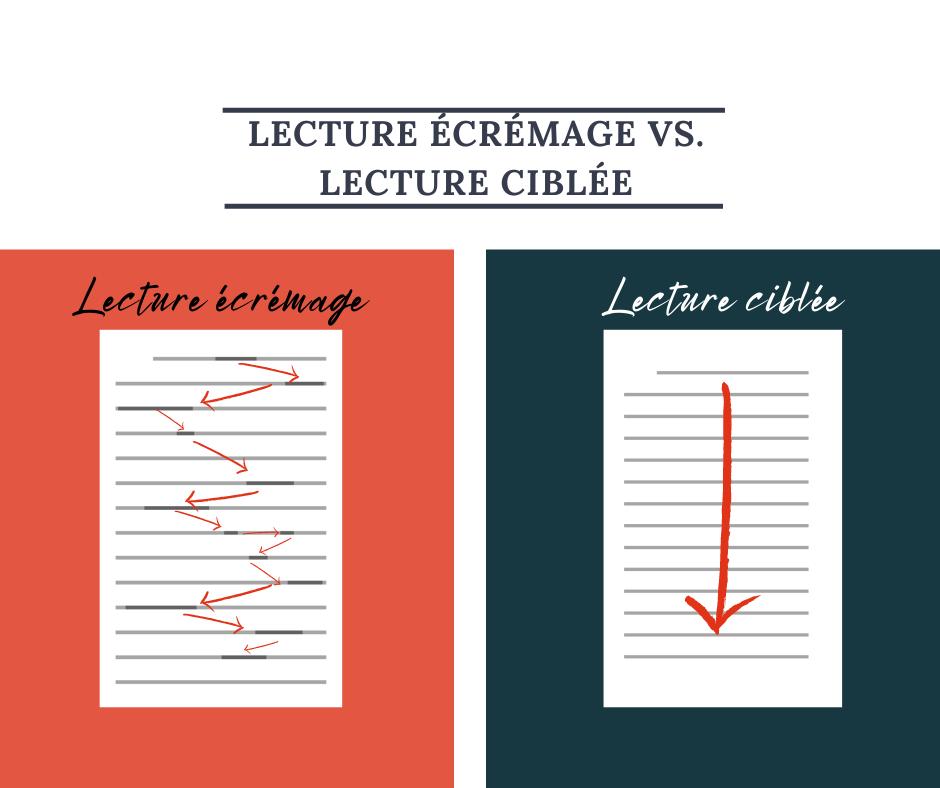 Lecture écrémage vs. lecture ciblée : différentes stratégies pour explorer un texte