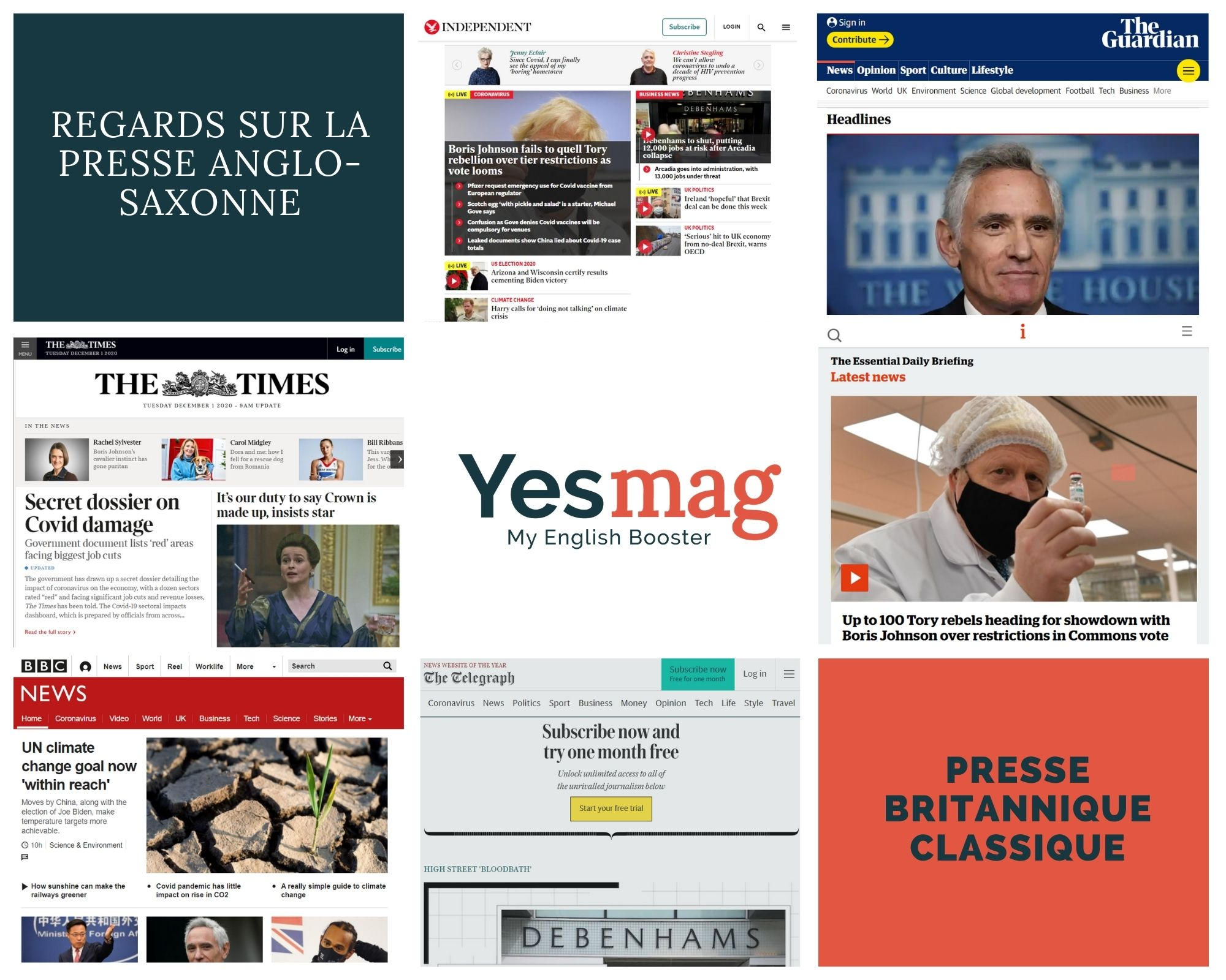 Où trouver des journaux en anglais à lire pour s'améliorer ?